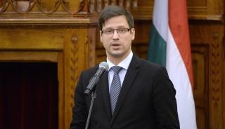Budapest, 2016. április 25. Gulyás Gergely, az Országgyûlés törvényalkotásért felelõs fideszes alelnöke beszédet mond az alaptörvény kihirdetésének ötödik évfordulója alkalmából tartott ünnepségen az Országházban 2016. április 25-én. MTI Fotó: Kovács Tamás