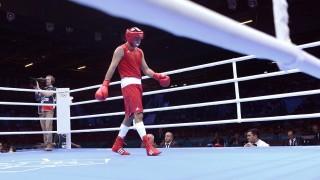 London, 2012. augusztus 6. Harcsa Zoltán a ringben, miután kikapott a brazil Florentino Falcaótól a 2012-es londoni nyári olimpia ökölvívótornája 75 kg-os súlycsoportjának negyeddöntõjében a londoni ExCel központban 2012. augusztus 6-án. A magyar bokszoló 14-10-re pontozással vesztett, így búcsúzott az olimpiától. MTI Fotó: Illyés Tibor