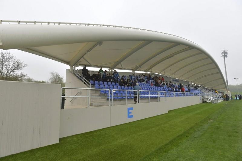 Szolnok, 2016. április 9. Az újjáépített Tiszaligeti Stadion Szolnokon a megnyitó napján, 2016. április 9-én. MTI Fotó: Máthé Zoltán