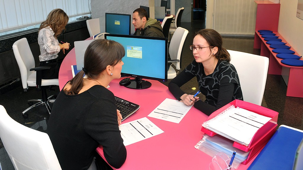 Budapest, 2011. december 19.A Diákhitel Központ Zrt. megújult ügyfélszolgálati irodája Budapesten.MTI Fotó: Soós Lajos