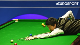 SHEFFIELD, ENGLAND - APRIL 26:  Ding Junhui of China in action during his quarter final match against  Mark Williams of Wales on day eleven of the World Championship Snooker at Crucible Theatre on April 26, 2016 in Sheffield, England.  (Photo by Laurence Griffiths/Getty Images)