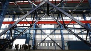 Tiszafüred, 2014. március 28. A hajógyári nagycsarnok belsõ tere a tiszafüredi City Ipari Parkban 2014. március 28-án. MTI Fotó: Bugány János