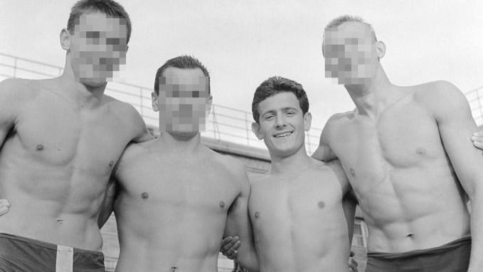 A képen balról jobbra: Csikány József, Fábián Béla, Kiss László és Lantos László.