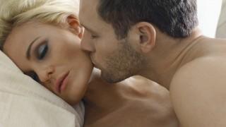 Man Kissing Womans Face