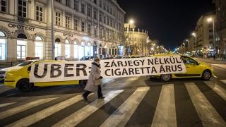 Image: 73677061, Taxisok tüntetnek az UBER közösségi sofőrszolgálat betiltásáért Budapest belvárosában., Place: Budapest, Hungary, License: Rights managed, Model Release: No or not aplicable, Property Release: Yes, Credit: smagpictures.com