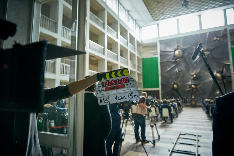 """BUDAPEST - National Geographic Channel films part of its Global Event Series """"MARS"""".    (photo credit:  National Geographic Channels/Robert Viglasky)"""