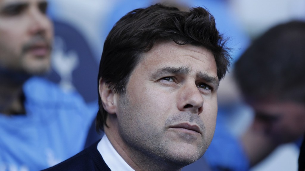 Tottenham Hotspur's Argentinian head coach Mauricio Pochettino looks on before the English Premier League football match between Tottenham Hotspur and Southampton at White Hart Lane in London, on May 8, 2016. / AFP PHOTO / Ian Kington / RESTRICTED TO EDITORIAL USE. No use with unauthorized audio, video, data, fixture lists, club/league logos or 'live' services. Online in-match use limited to 75 images, no video emulation. No use in betting, games or single club/league/player publications.  /