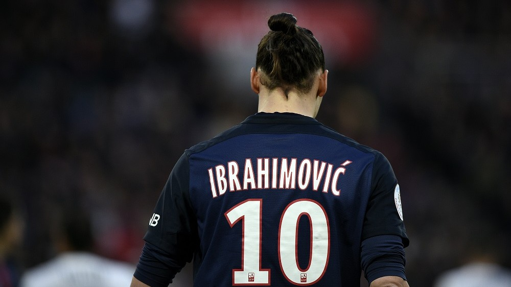 """(FILES) This file photo taken on March 05, 2016 shows Paris Saint-Germain's Swedish forward Zlatan Ibrahimovic walking on the pitch during the French L1 football match between Paris Saint-Germain (PSG) and Montpellier (MHSC), at the Parc des Princes stadium in Paris. Zlatan Ibrahimovic said on May 13, 2016 he was leaving French champions Paris Saint-Germain at the end of this season, in a message on the Swedish striker's Twitter account. """"My last game tomorrow at Parc des Princes. I came like a king, left like a legend,"""" said Ibrahimovic, who has been crowned France's player of the year for a record third time. / AFP PHOTO / FRANCK FIFE"""