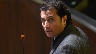 (FILES) This file photo taken on February 11, 2015 shows Costa Concordia's captain Francesco Schettino in the courthouse for his final declaration on the last day of his trial on February 11, 2015 in Grosseto. Disgraced Concordia captain Francesco Schettino awaits today on May 31, 2016 for the verdict of an appeal against the 16-year jail sentence he was handed last February for his part in the Costa Concordia shipwreck which killed 32 people.  Schettino was sentenced in February 2015 to 16 years and one month in jail after a judge ruled his recklessness caused the giant Costa Concordia to hit underwater rocks off the Tuscan island of Giglio. / AFP PHOTO / ALBERTO PIZZOLI