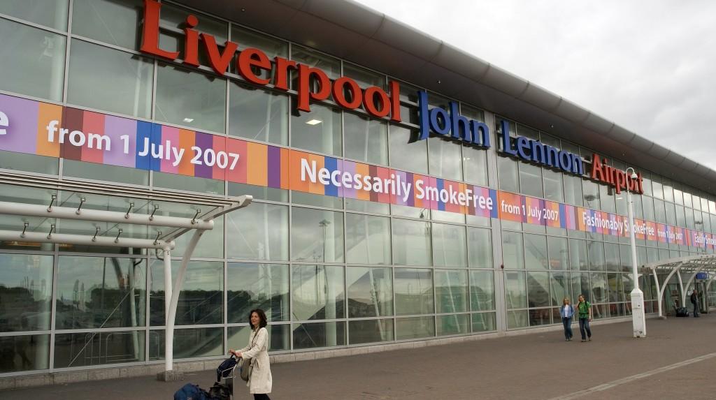 United Kingdom, Liverpool, brand new John Lennon International Airport
