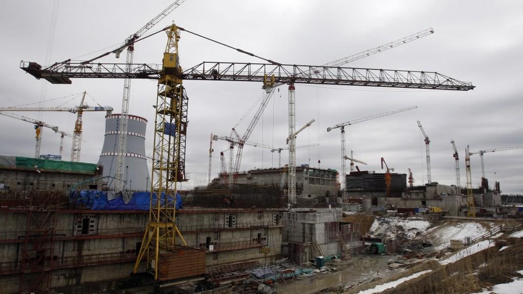1079615 Russia. 03/30/2012 Construction site of the Leningrad Nuclear Power Plant-2 in Sosnovy Bor. Vadim Zhernov/RIA Novosti