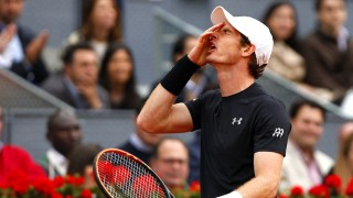 Andy Murray of Great Britain frustrated during the in the Final on Day 8 of the Mutua Madrid Open at La Caja Magica, Madrid on May the 8, 2016 - photo Ella Ling / BPI / DPPI