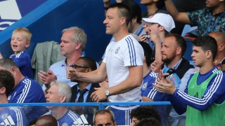 Chelsea captain John Terry celebrates penalty goal 1-0 during the Barclays Premier League match between Chelsea and Leicester City played at Stamford Bridge, London on 15th May 2016 - Photo Javier Garcia / BPI / DPPI
