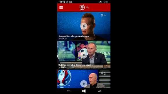 M4Sport applikáció WIndows Mobile-on