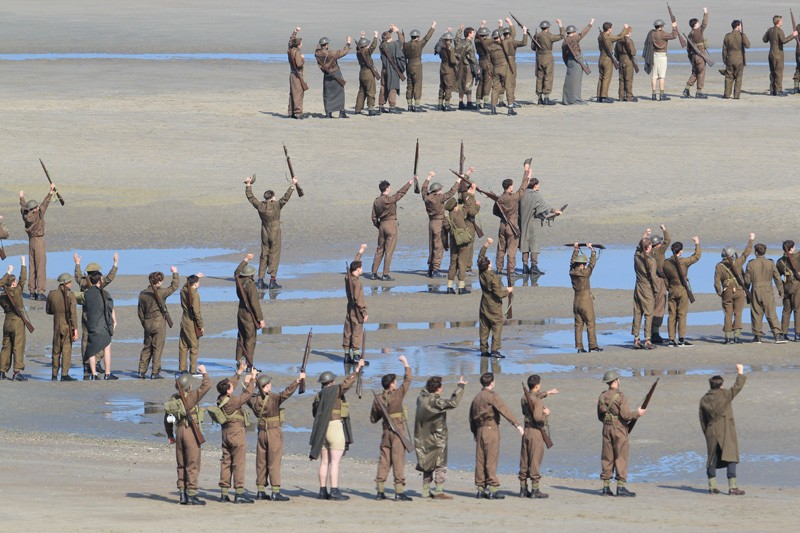 Christopher Nolan directs the war movie 'Dunkirk' on the beaches of Dunkirk in the exact spot where 76 years ago today, 100,000 soldiers were evacuated. The 5,000 extras are on the beach at the time the little ships arrived from England. Today in Ramsgate those same ships are having their memorial day.Featuring: AtmosphereWhere: Dunkirk, FranceWhen: 26 May 2016Credit: WENN.com