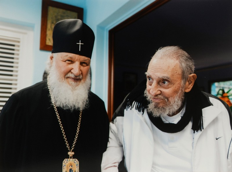 2791586 02/15/2016 Patriarch of Moscow and All Russia Kirill meeting inHhavana with Fidel Castro Rus, the leader of the Cuban revolution, the former chairman of the Cuban State Council and Government./press service of a patriarchy of ROC