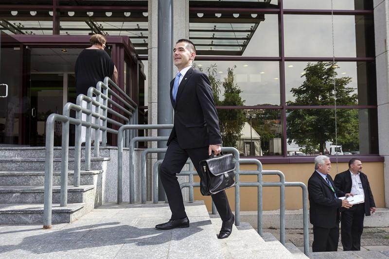 Budapest, 2016. május 29.Novák Előd, a Jobbik alelnöke érkezik pártja tisztújító kongresszusára a Budapest Kongresszusi Központba 2016. május 29-én.MTI Fotó: Szigetváry Zsolt