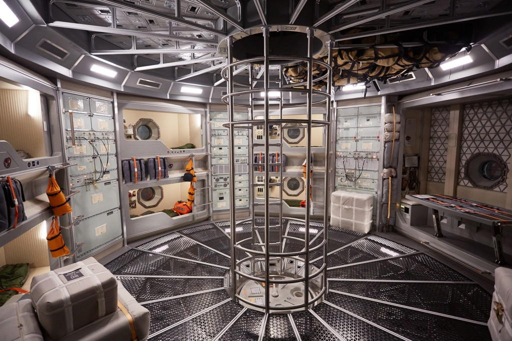 The set of MARS during production in Budapest. (photo credit:  National Geographic Channels/Robert Viglasky)