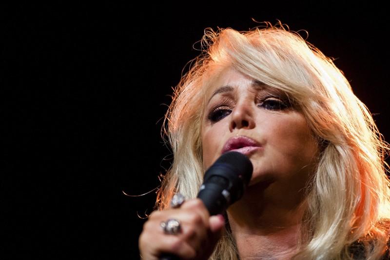 Debrecen, 2016. június 18. Bonnie Tyler brit rockénekesnõ koncertet ad a debreceni Kerekes-telepi fürdõben 2016. június 18-án. MTI Fotó: Czeglédi Zsolt