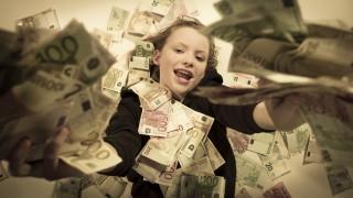 money rain, piles of cash, background, euro bills, sepia instagram type colors