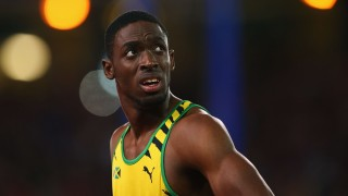 GLASGOW, SCOTLAND - JULY 28:  Gold medalist Kemar Bailey-Cole of Jamaica looks on after  the Men's 100 metres final at Hampden Park during day five of the Glasgow 2014 Commonwealth Games on July 28, 2014 in Glasgow, United Kingdom.  (Photo by Julian Finney/Getty Images)