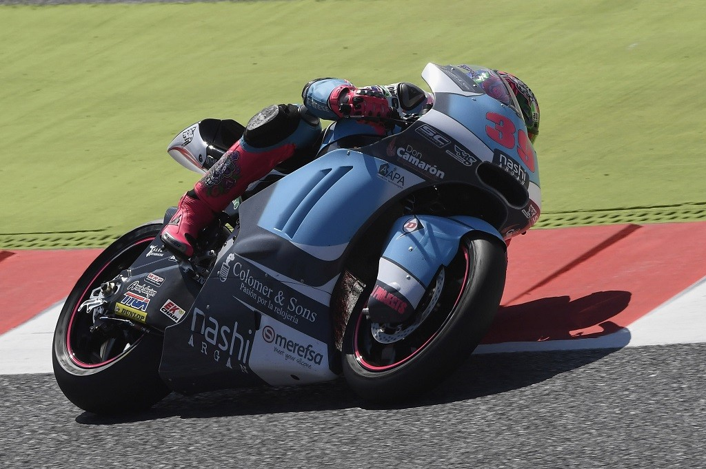 MONTMELO, SPAIN - JUNE 03: Luis Salom of Spain and SAG Team rounds the bend during the free practice during the MotoGp of Catalunya - Free Practice at Circuit de Catalunya on June 3, 2016 in Montmelo, Spain.  (Photo by Mirco Lazzari gp/Getty Images)