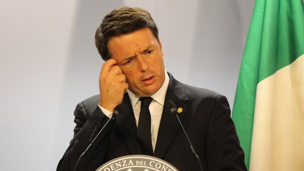 BELGIUM, Brussels: Italian Prime minister Matteo Renzi talks to the press during an EU summit meeting on June 29, 2016 at the European Union headquarters in Brussels. European Union leaders will assess the damage from Britain's decision to leave the bloc and try to prevent further disintegration, as they meet for the first time without a British representative on June 29, 2016. And as the shockwaves reverberate around British politics, Scottish First Minister Nicola Sturgeon is also expected in Brussels utterly determined to keep her pro-EU country in the club despite the Brexit vote.  - Paul Alfred-Henri
