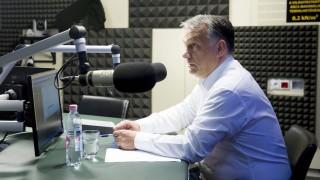 Budapest, 2016. június 24. Orbán Viktor miniszterelnök a Kossuth Rádió stúdiójában, ahol interjút adott a 180 perc című műsorban 2016. június 24-én. MTI Fotó: Koszticsák Szilárd