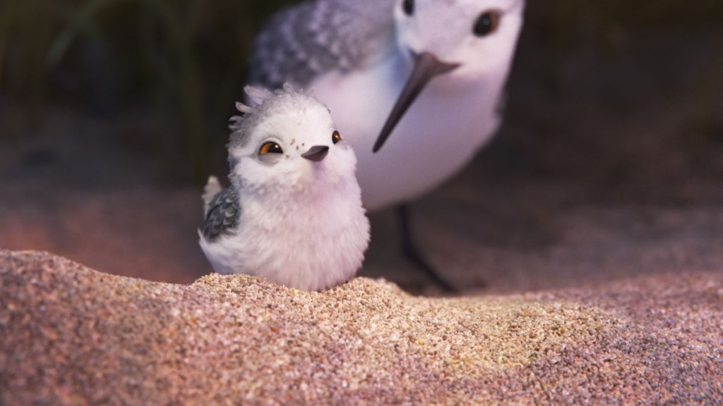 """""""PIPER"""" — In Pixar Animation Studios' new short, """"Piper,"""" a hungry sandpiper hatchling discovers that finding food without mom's help isn't so easy. Directed by Alan Barillaro (supervising animator """"WALL•E,"""" """"Brave""""), the short debuts in theaters on June 17, 2016, in front of """"Finding Dory."""" ©2016 Disney•Pixar. All Rights Reserved."""