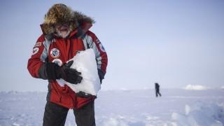 2832243 04/19/2016 Oceanographer, honorary polar explorer, Doctor of Biological Sciences Igor Melnikov in the Barneo drifting ice camp at the North Pole. Valeriy Melnikov/Sputnik