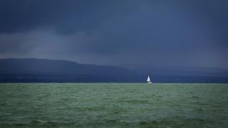 Balatonlelle, 2016. június 12.Vihar a Balaton felett, Balatonlelléről fotózva 2016. június 12-én.MTI Fotó: Varga György
