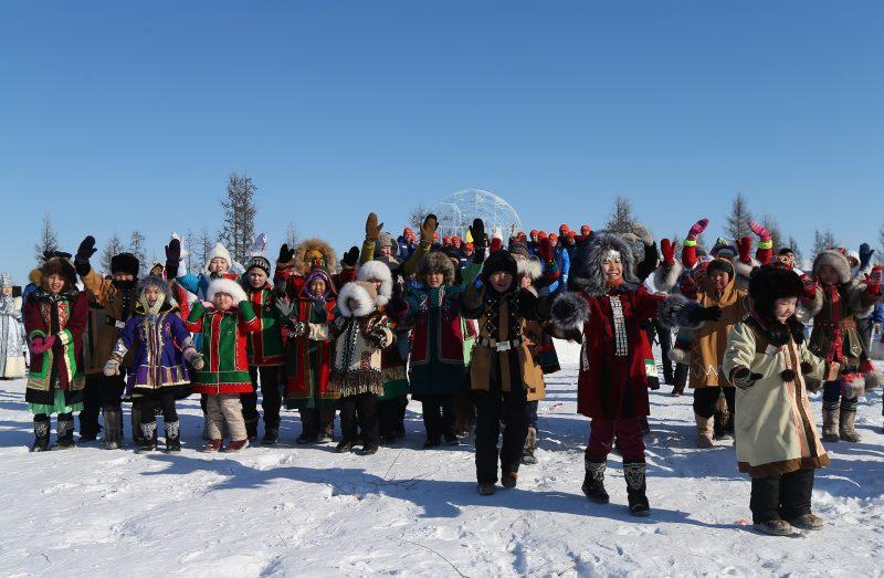 2816386 03/29/2016 Children of Asia International Sports Games Yakutsk flame lighting ceremony on Kisilyakh sacred mountain. ?????? ?????????/Sputnik