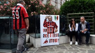 MILAN, ITALY - JUNE 14:  Supporters and press members wait outside the San Raffaele hospital as the Former Italian Prime Minister and AC Milan's honorary president Silvio Berlusconi undergoes cardiac surgery in Milan, Italy on June 14, 2016. Pier Marco Tacca / Anadolu Agency