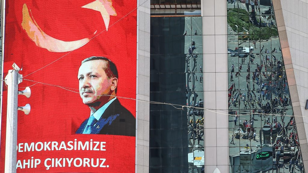 ANKARA, TURKEY - JULY 16:  People march from Kizilay square to Turkish General Staff building to react against military coup attempt, in Ankara, Turkey on July 16, 2016. Ercin Top / Anadolu Agency