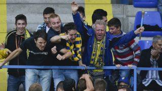 Mezõkövesd, 2016. július 16. A mezõkövesdi játékosok gólöröme a labdarúgó OTP Bank Liga 1. fordulójában játszott Mezõkövesd Zsóry FC - Gyirmót FC mérkõzésen Mezõkövesden 2016. július 16-án. A másodosztályból feljutott két csapat 2-2-es döntetlen játszott a nyitófordulóban. MTI Fotó: Czeglédi Zsolt