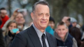 """LONDON, ENGLAND - APRIL 25:  Tom Hanks arrives for the UK premiere of """"A Hologram For The King"""" at BFI Southbank on April 25, 2016 in London, England.  (Photo by Mike Marsland/Mike Marsland/WireImage)"""