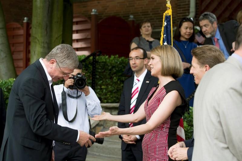 Fogadás a függetlenség napján az amerikai nagyköveti rezide