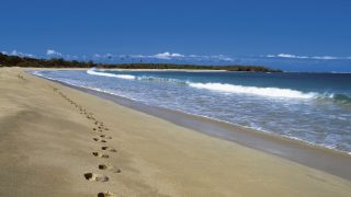 Footprints on Natadola Beach, Fiji