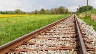 Single railway line in Bavaria, Germany