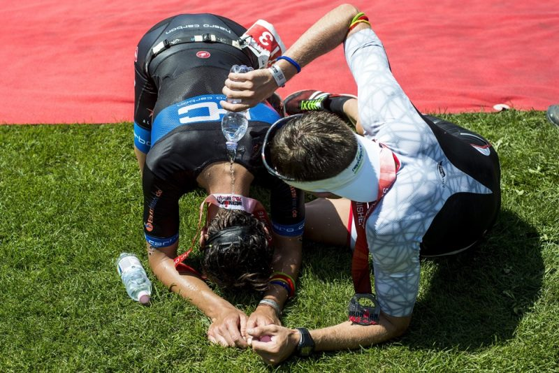 Budapest, 2016. július 30. Résztvevõk az Ironman 70.3 triatlonversenyen Budapesten 2016. július 30-án. MTI Fotó: Marjai János