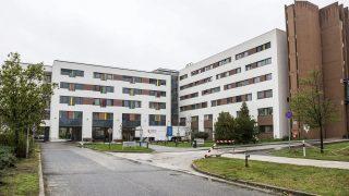 Tatabánya, 2015. október 14. A tatabányai Szent Borbála Kórház új, 5600 négyzetméteres központi épülete az átadás napján, 2015. október 14-én. A fejlesztés egy 5,8 milliárd forintos beruházás része, amely 2015 decemberében zárul. MTI Fotó: Bodnár Boglárka