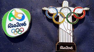 Rio de Janeiro, 2016. augusztus 4.A riói nyári olimpia kitűzői a Rio de Janeiró-i Olimpiai Parkban 2016. augusztus 4-én, egy nappal a nyári olimpia kezdete előtt. (MTI/EPA/Barbara Walton)