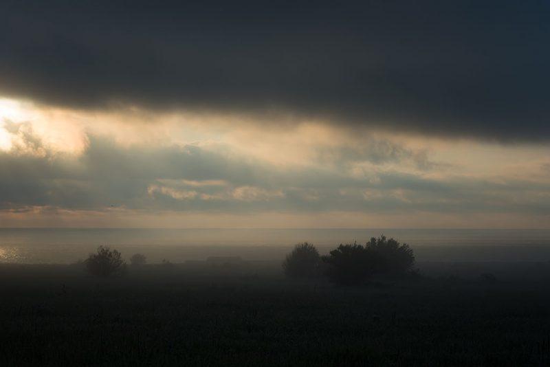 Foggy landscape, near Cape Kaliakra, Bulgaria