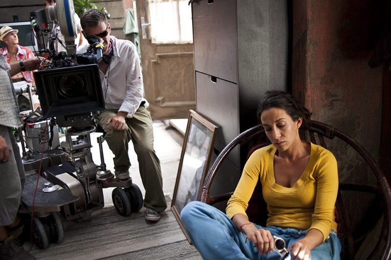 Hortobágy, 2013. július 12.Az Anna szerepét alakító Török-Illyés Orsolyát instruálja Hajdu Szabolcs filmrendező Délibáb (Mirage) munkacímű filmjének forgatásán Hortobágyon 2013. július 9-én.MTI Fotó: Kallos Bea