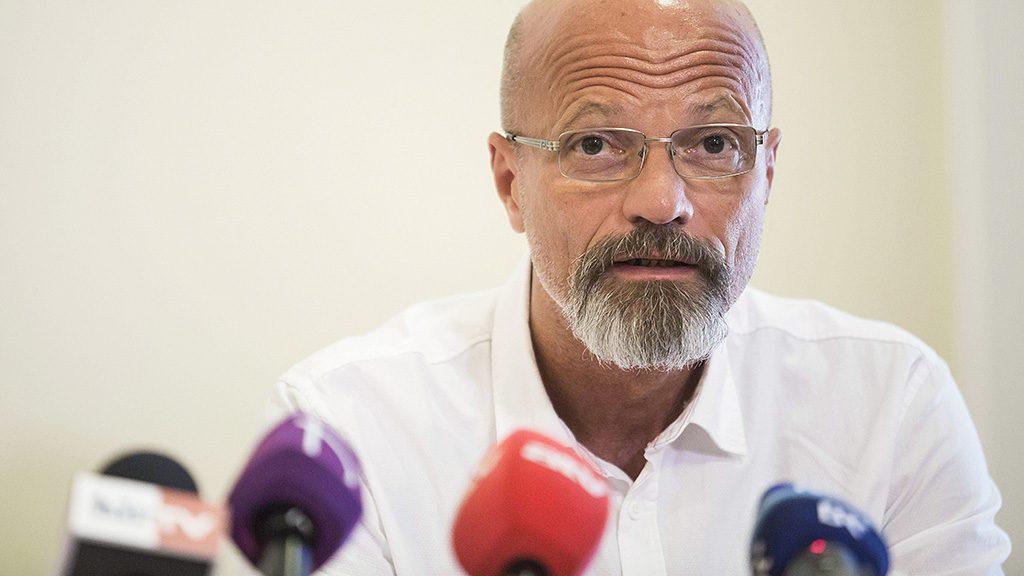 Budapest, 2016. augusztus 8.Zacher Gábor, a Honvéd kórház sürgősségi osztályának vezetője a Sziget Kft. sajtótájékoztatóján az Országos Mentőszolgálat fővárosi székházában 2016. augusztus 8-án.MTI Fotó: Mohai Balázs