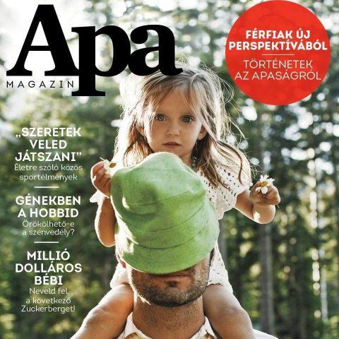Az Apa Magazin első számának borítója