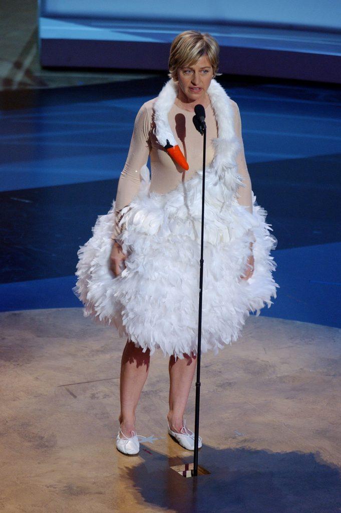 Ellen DeGeneres hosts the 53rd Annual Primetime Emmy Awards. (Photo by M. Caulfield/WireImage)