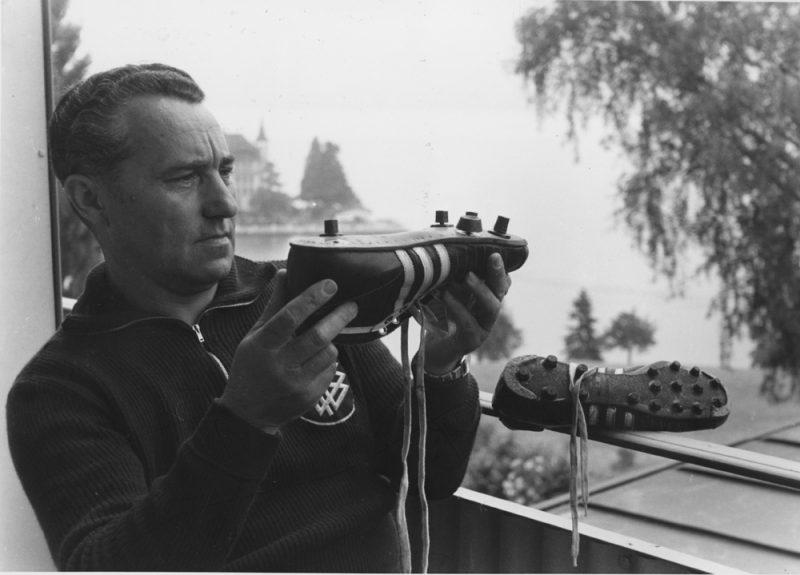 """(GERMANY OUT) Dassler, Adolf (Adi) *03.11.1900-06.09.1978+Unternehmer, Gruender der Firma """"adidas"""", D- Halbportrait- 1954Foto: Hanns Hubmann (Photo by bpk/Hubmann/ullstein bild via Getty Images)"""