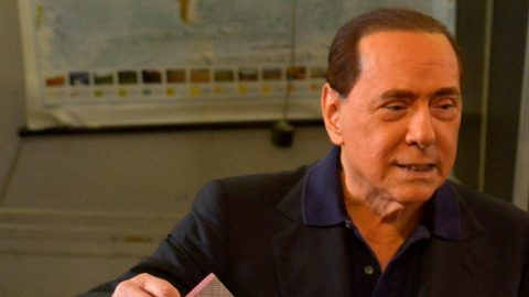 ROME, ITALY - JUNE 5: Former Italian Prime Minister Silvio Berlusconi casts his ballot at a polling station during the local elections in Rome, Italy on June 5, 2016.  Alvaro Padilla / Anadolu Agency