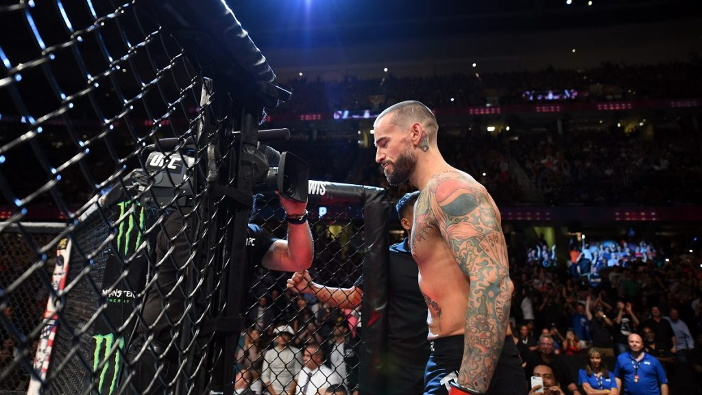 CLEVELAND, OH - SEPTEMBER 10:  Phil 'CM Punk' Brooks prepares to enter the Octagon prior to facing Mickey Gall in their welterweight bout during the UFC 203 event at Quicken Loans Arena on September 10, 2016 in Cleveland, Ohio. (Photo by Josh Hedges/Zuffa LLC/Zuffa LLC via Getty Images)